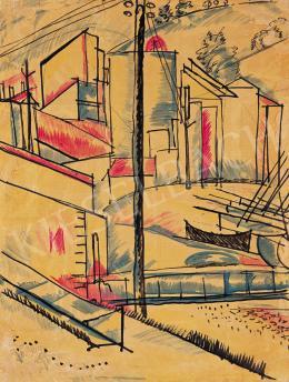 Uitz Béla - Francia táj (Collioure-i táj), 1925