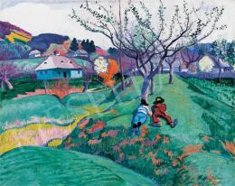 Ziffer, Sándor - Children Resting on the Hillside, 1911