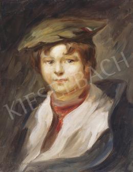 Egry József - Barettes fiú vörös sállal, 1904