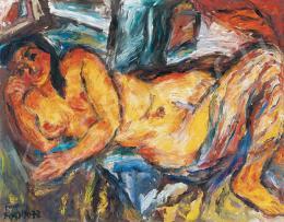 Frank Frigyes - Akt kék lepellel, 1972