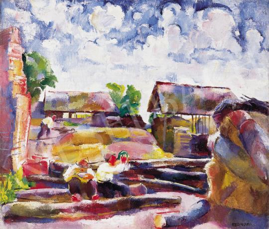 Aba-Novák, Vilmos - Lumberjacks at Rest, around 1926 | 39th Auction auction / 85 Item