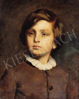 Székely, Bertalan - Young Boy in White Collar Dress