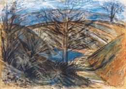 Nagy István - Dombos táj fákkal