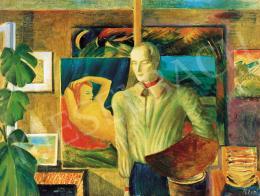 Klie Zoltán - Önarckép műteremben, 1950