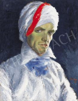 Martyn, Ferenc - Self Portrait with Turban, 1922