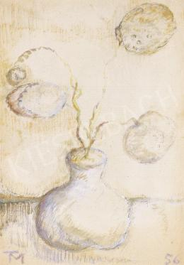 Tóth Menyhért - Csendélet (Labdarózsás virágcsendélet)