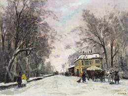 Berkes Antal - Téli utca, 1912