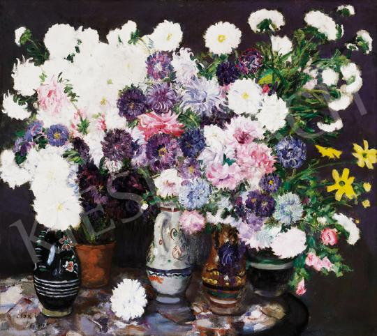 Csók, István - Crisantems (Flower Still Life), 1917 | 39th Auction auction / 158 Item