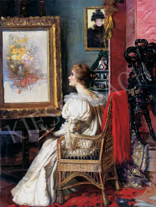 Angyalffy Erzsébet - Festőnő műteremben | 39. Aukció aukció / 160 tétel