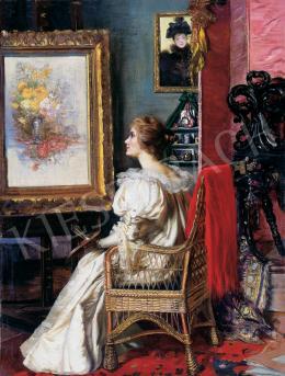 Angyalffy Erzsébet - Festőnő műteremben