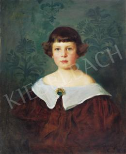 László, Fülöp - Small Child in White Collar Dress, 1897