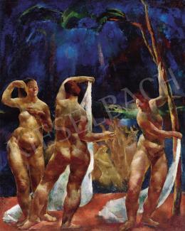 Aba-Novák Vilmos - Fürdőző nők (Női aktok)
