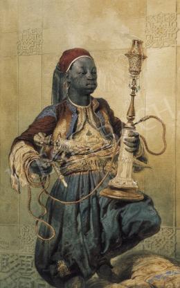 Zichy Mihály - Núbiai vizipipával