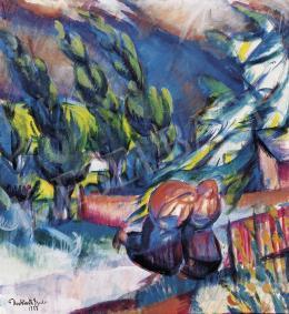 Derkovits Gyula - Menekülés (Vihar elől futók)