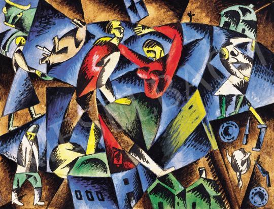 Bortnyik Sándor - Kék-vörös kompozíció, 1919   39. Aukció aukció / 197 tétel