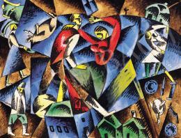 Bortnyik Sándor - Kék-vörös kompozíció, 1919