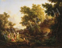 Id. Markó, Károly sr. - Mythological Scene (Diana and the Nympheas), 1860