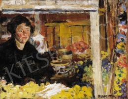 Perlmutter Izsák - Lány gyümölcsöskosarakkal, 1926