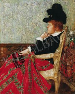 Karlovszky Bertalan - Karosszékben ülő nő