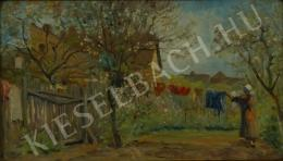 Péczely, Antal - Spring, Drying Clothes