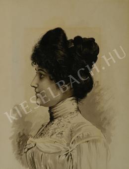 Ismeretlen művész - Fekete hajú nő