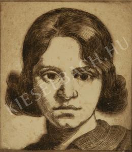 Kmetty, János - Head of a Woman (1920)