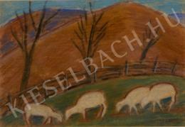 Nagy István - Bárányok a legelőn, 1930 körül