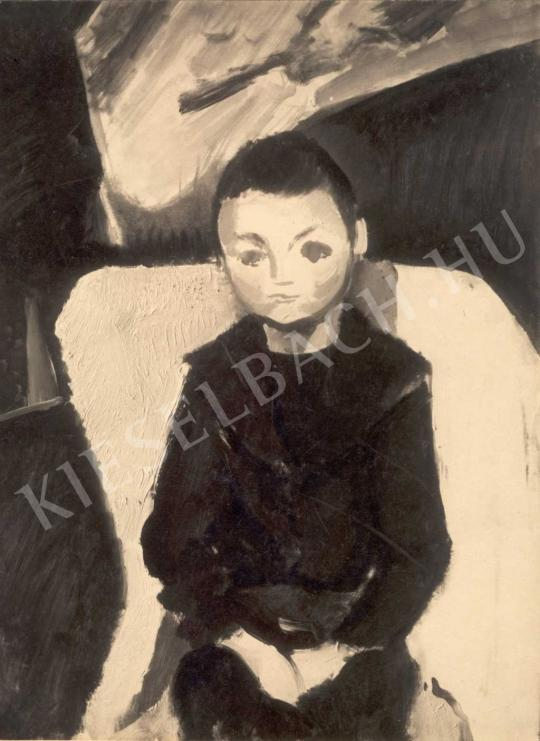 Berény Róbert - Fiú portré, 1911 körül festménye