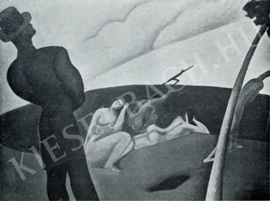 Berény Róbert - Sziluettes kompozíció, 1911 festménye