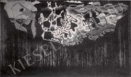 Berény Róbert - Hímzés, 1912 festménye