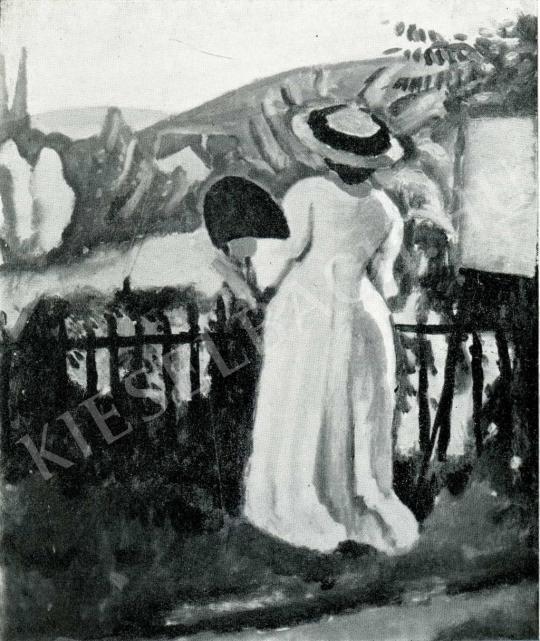 Czigány Dezső - A festőnő, 1909 festménye
