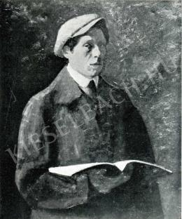 Czigány Dezső - Önarckép könyvvel, 1910-1911