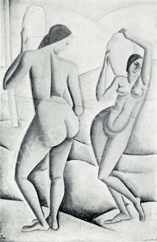 Czigány Dezső - Két női akt, 1911 festménye