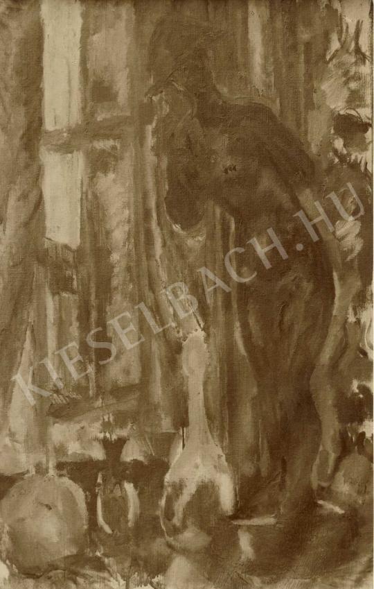 Czóbel Béla - Vörös aktszobor II, 1909 festménye
