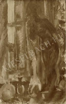 Czóbel Béla - Vörös aktszobor II, 1909