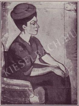 Czóbel Béla - Női portré, 1907