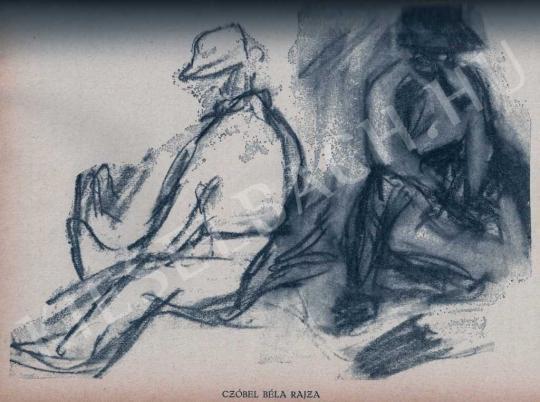 Czóbel Béla - Tanulmány, 1913 körül festménye