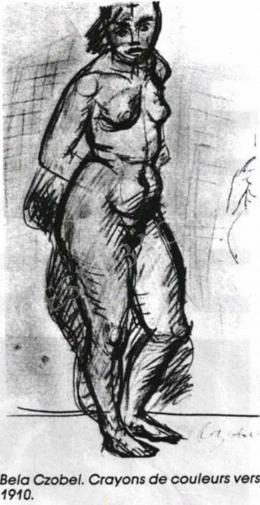 Czóbel Béla - Akttanulmány, 1910