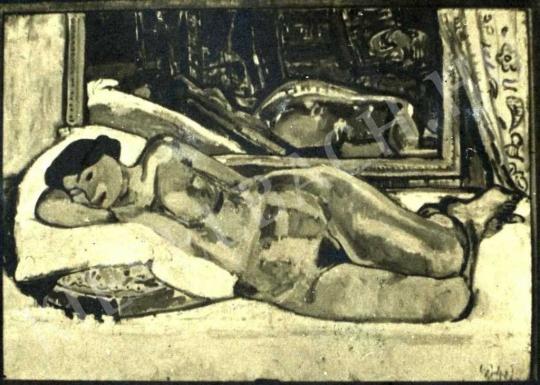 Czóbel Béla - Fekvő női akt, 1907 festménye