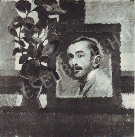 Jakobovits Artúr - Önarckép, 1910 körül festménye