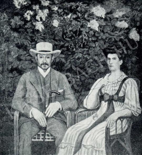 Kernstok Károly - Lederer Artúr és neje, 1908 festménye