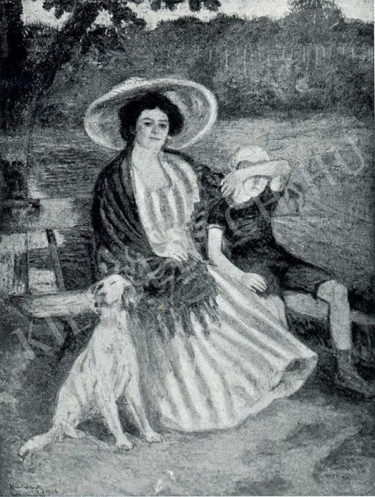 Kernstok Károly - Kertben, 1906 festménye