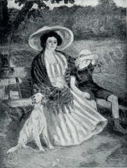 Kernstok Károly - Kertben, 1906