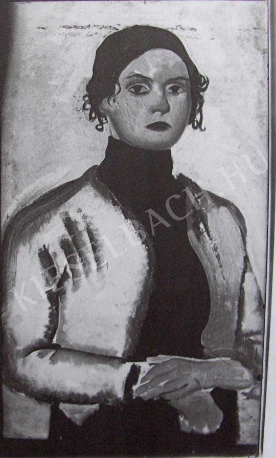 Lehel Mária - Önarckép, 1911 körül festménye