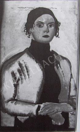 Lehel Mária - Önarckép, 1911 körül