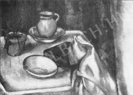 Márffy Ödön - Csendélet edényekkel, 1910 körül