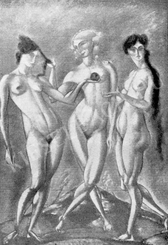 Márffy Ödön - Három grácia, 1911 festménye