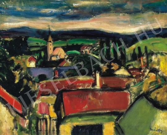 Márffy Ödön - Szentendrei táj, 1910 körül festménye
