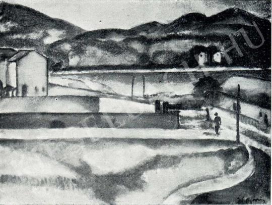 Márffy Ödön - Gyártelep, 1910 körül festménye