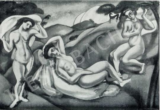 Márffy Ödön - Hármas akt, 1910 festménye